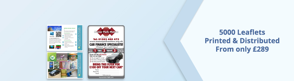 5000 leaflets printed and distributed from only £289
